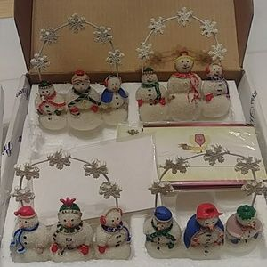 Holiday table place card holders